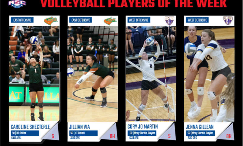 UTD, UMHB Sweep Volleyball Players of the Week