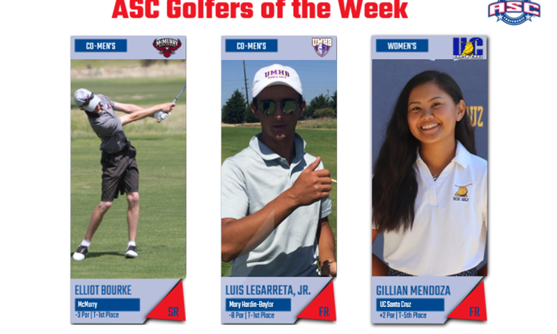 Bourke, Legarreta, Mendoza Named Golfers of the Week