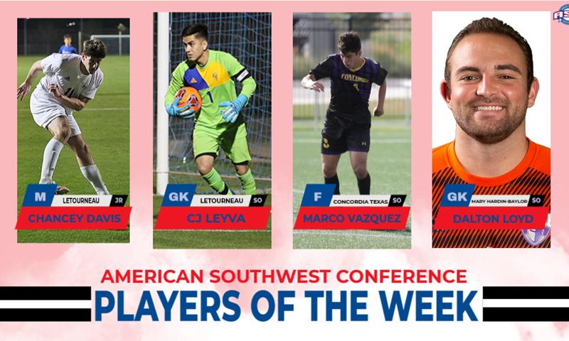 Davis, Leyva, Vazquez, Loyd Named Men's Soccer POW